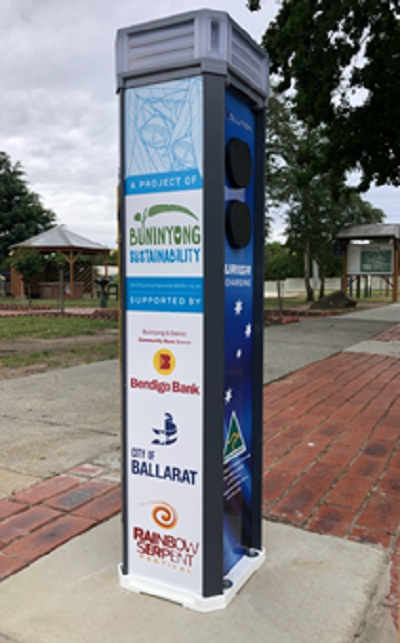 Charge point - EVolution at DeSoza Park